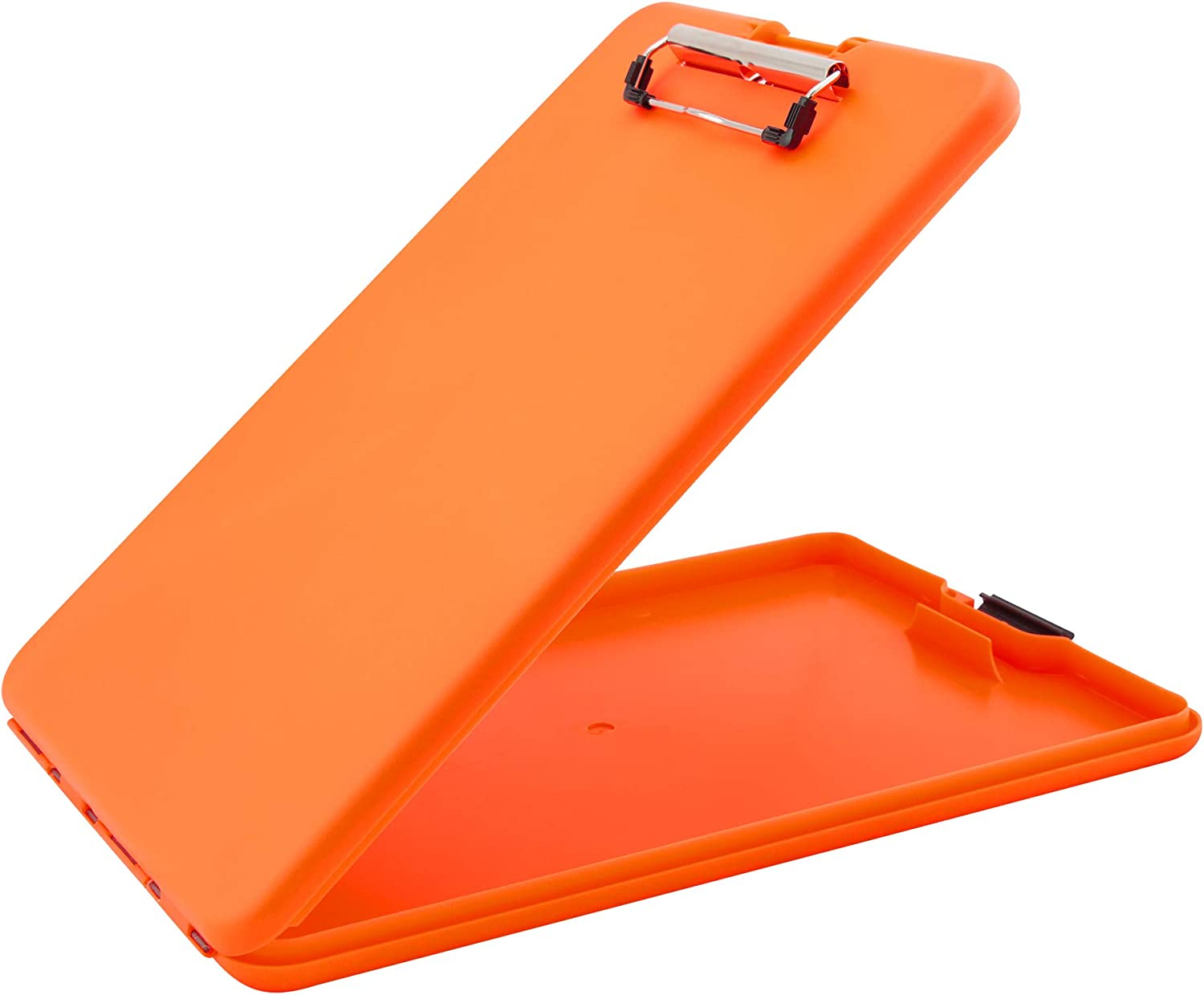 Saunders Bright Orange SlimMate Plastic Storage Clipboard – Letter Size Form Holder. Ergonomic Recordkeeping Clipboard for Professionals. Stationery Supplies