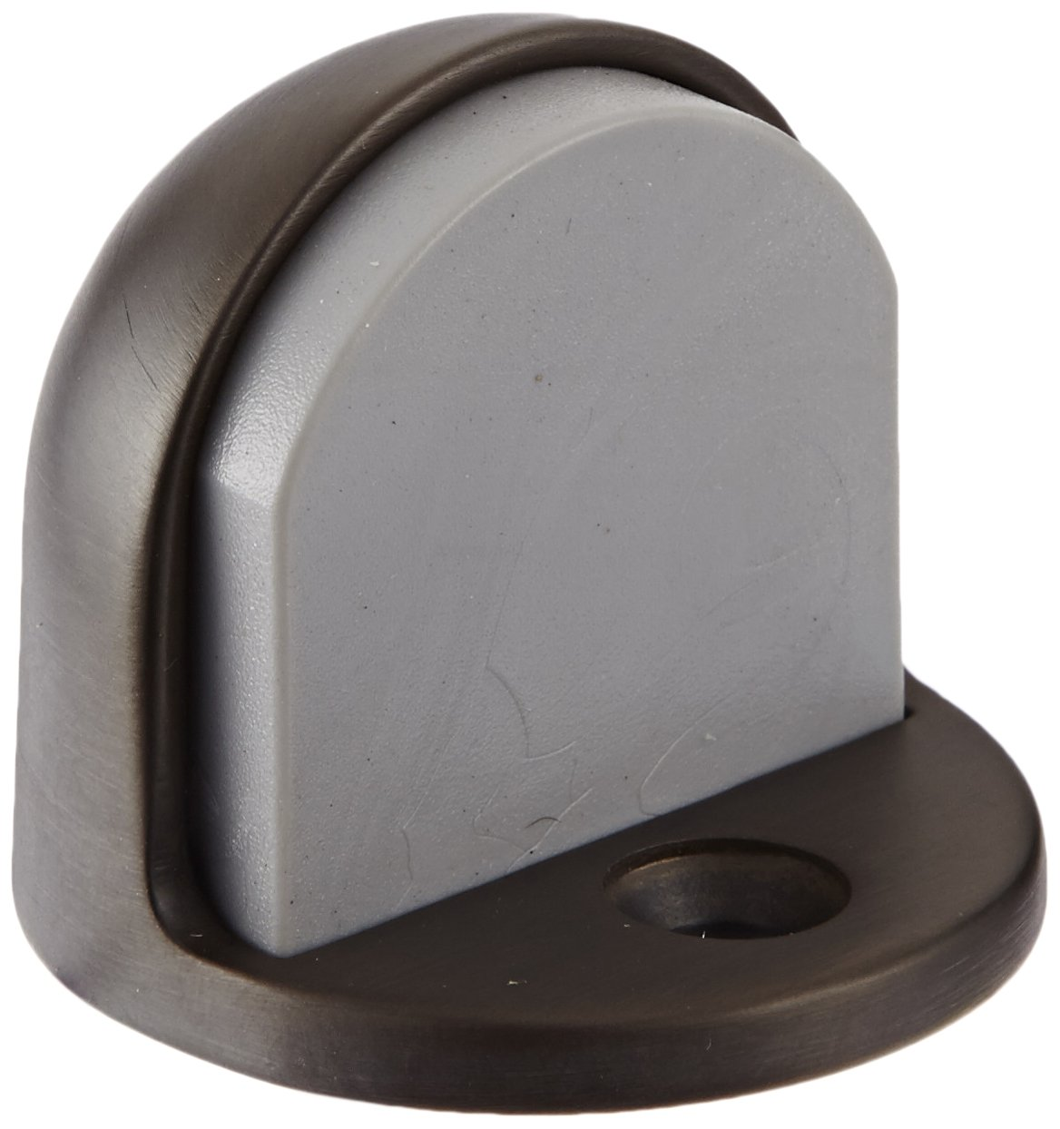 Rockwood 441H.10 Bronze Floor Mount Cast Universal Dome Stop #12 X 1-1//4 FH WS Fastener with Plastic Anchor and 12-24 x 1 FH MS Fastener with Lead Anchor Satin Clear Coated Finish 1-7//8 Base Diameter x 7//32 Base Length