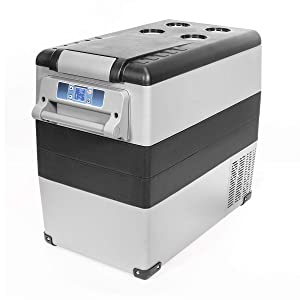 XtremepowerUS X-Large 58-Quart Portable Refrigerator Compact Vehicle Car Mini Fridge Bluetooth Function Cooler Built-in LED Light