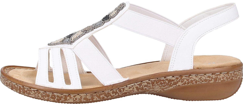 Rieker Damen 628g5 80 Geschlossene Sandalen
