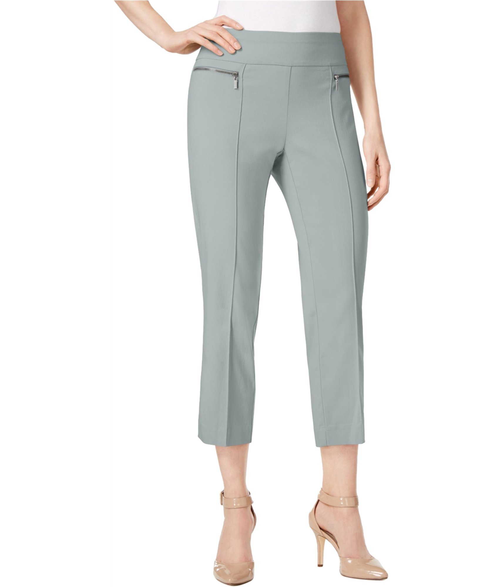 Style & Co. Womens Pull-On Casual Cropped Pants Grey M/23