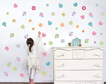 Lady Bug Wall Decals - Girls Wall Decals - Wall Decals for Girls - Vinyl  Stickers