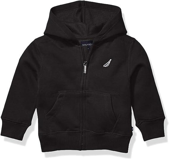 Nautica Baby Boys Fleece Basic Logo Full Zip Hoodie