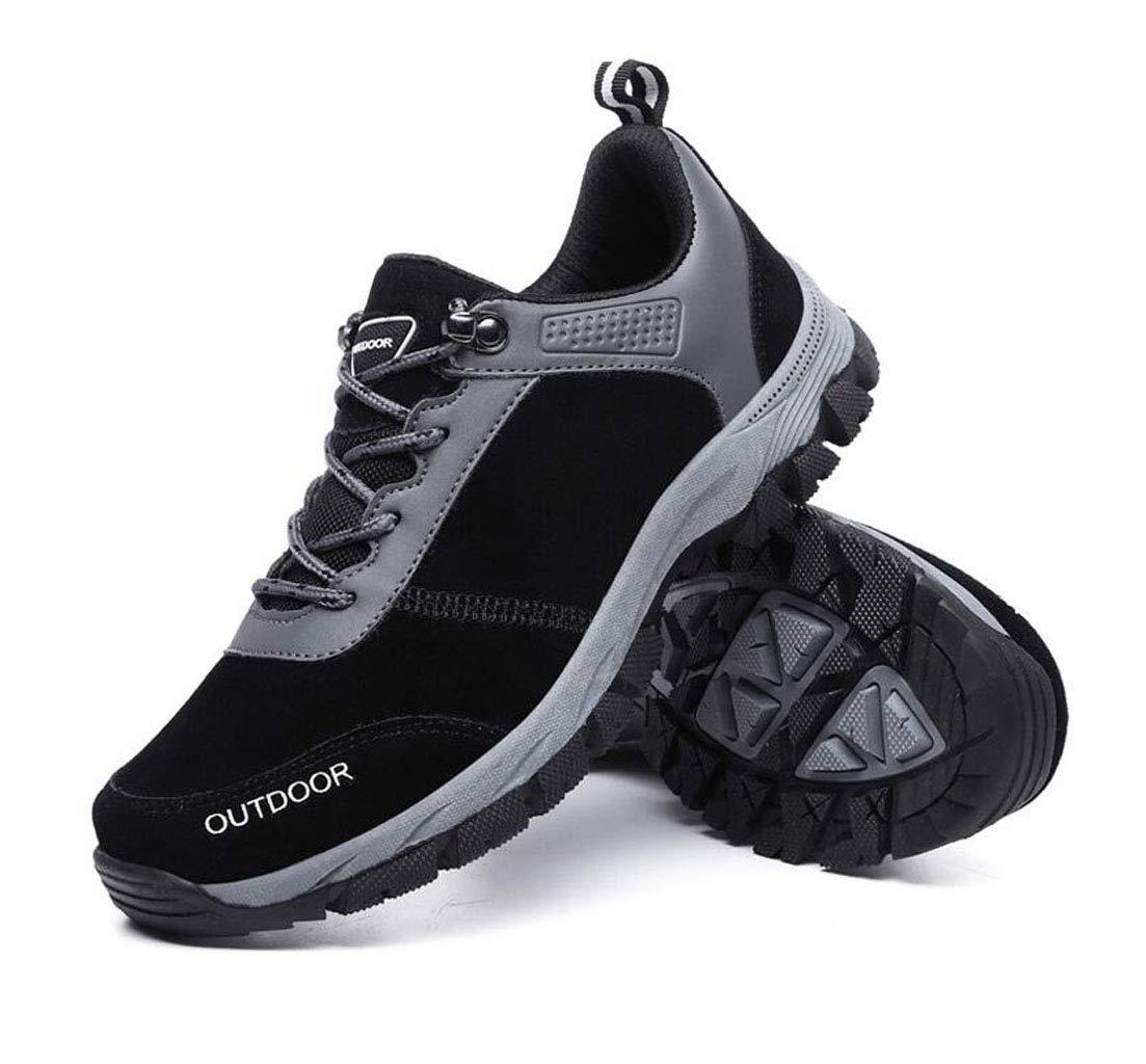 Herren Wanderschuhe Reise Schuhe Outdoor Rutschfeste atmungsaktive Sportschuhe Laufschuhe (Farbe   SCHWARZ, größe   39)