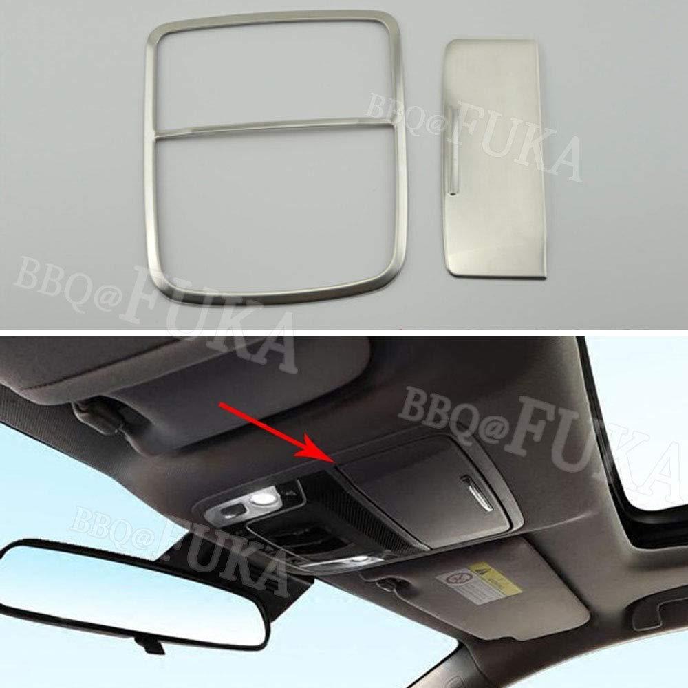 FidgetFidget Matte ABS Car Top Roof Reading Light Lamp + Glass Box Trim for Honda Accord 2018