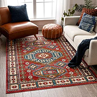 "Well Woven Ravia Blue Southwestern Medallion Area Rug 4x6 (3'11"" x 5'3"")"