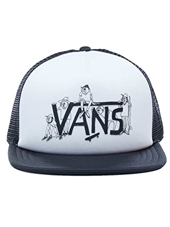 19da4efc8c0776 Vans Shaper Gang Trucker Cap White-Black  Amazon.co.uk  Clothing