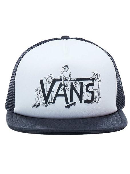 Gorra Trucker Shaper Gang de Vans - Blanco-Negro - Ajustable: Amazon.es: Ropa y accesorios