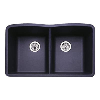 Blanco 511-702 Diamond Equal Bowl Kitchen Sink, Anthracite Finish