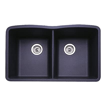Blanco 511 702 Diamond Equal Double Bowl Kitchen Sink, Anthracite Finish