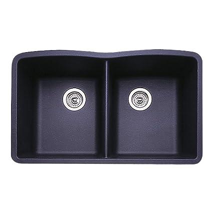 Blanco 511 702 Diamond Equal Double Bowl Kitchen Sink, Anthracite Finish