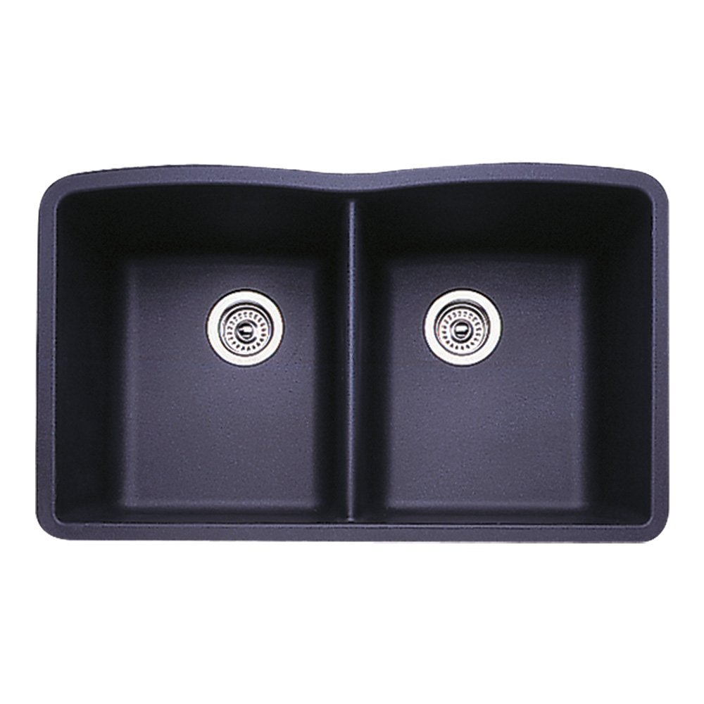 Blanco 511-702 Diamond Equal Double Bowl Kitchen Sink, Anthracite Finish by Blanco