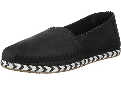 8c9b5733b TOMS Women's Alpargata Leather Espadrille, 9 UK, Black Leather Rope:  Amazon.co.uk: Shoes & Bags