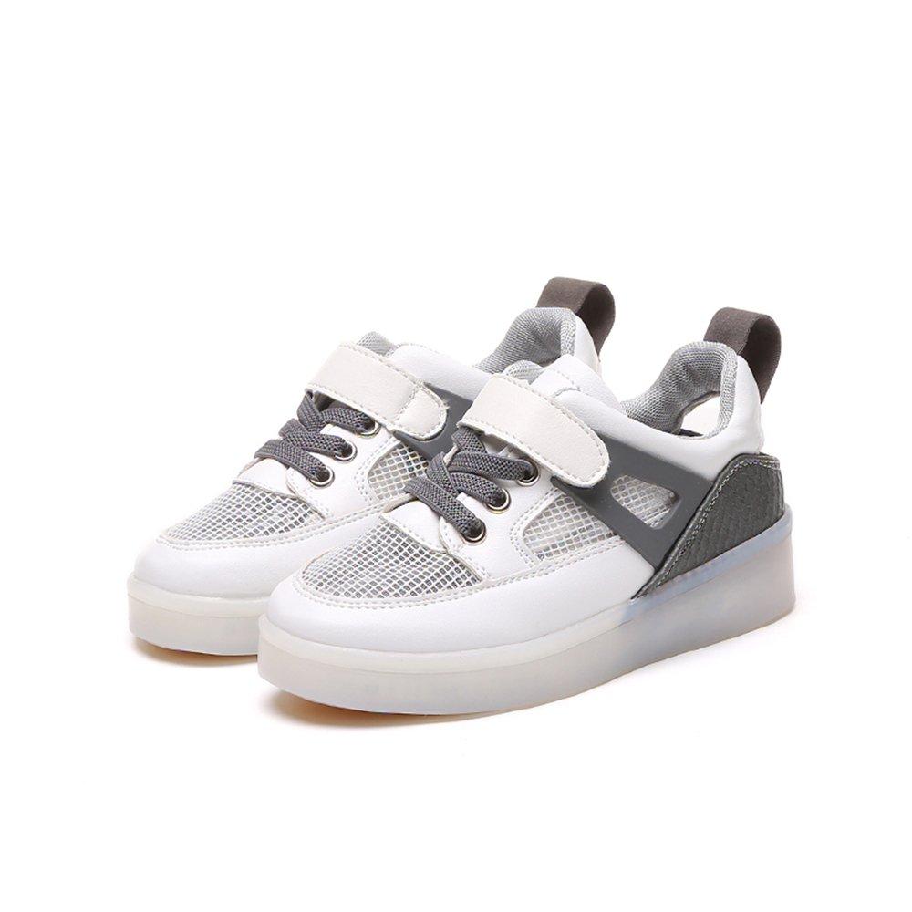 edv0d2v266 USB Charging LED Shoes Kids Breathable Slip On Lightweight Sneakers Walking Shoes