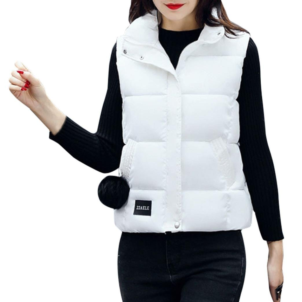 Sonnena Down Chaleco Chaleco de mujer acolchado chaqueta abrigo plegable Ultra Ligero negro blanco e...