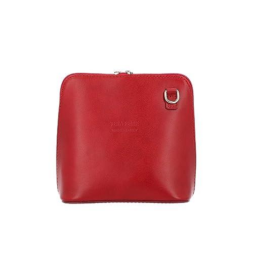 foto ufficiali d5fde a9c1f Tirabasso Shop donna Borsa tracolla rossa in pelle Made In ...