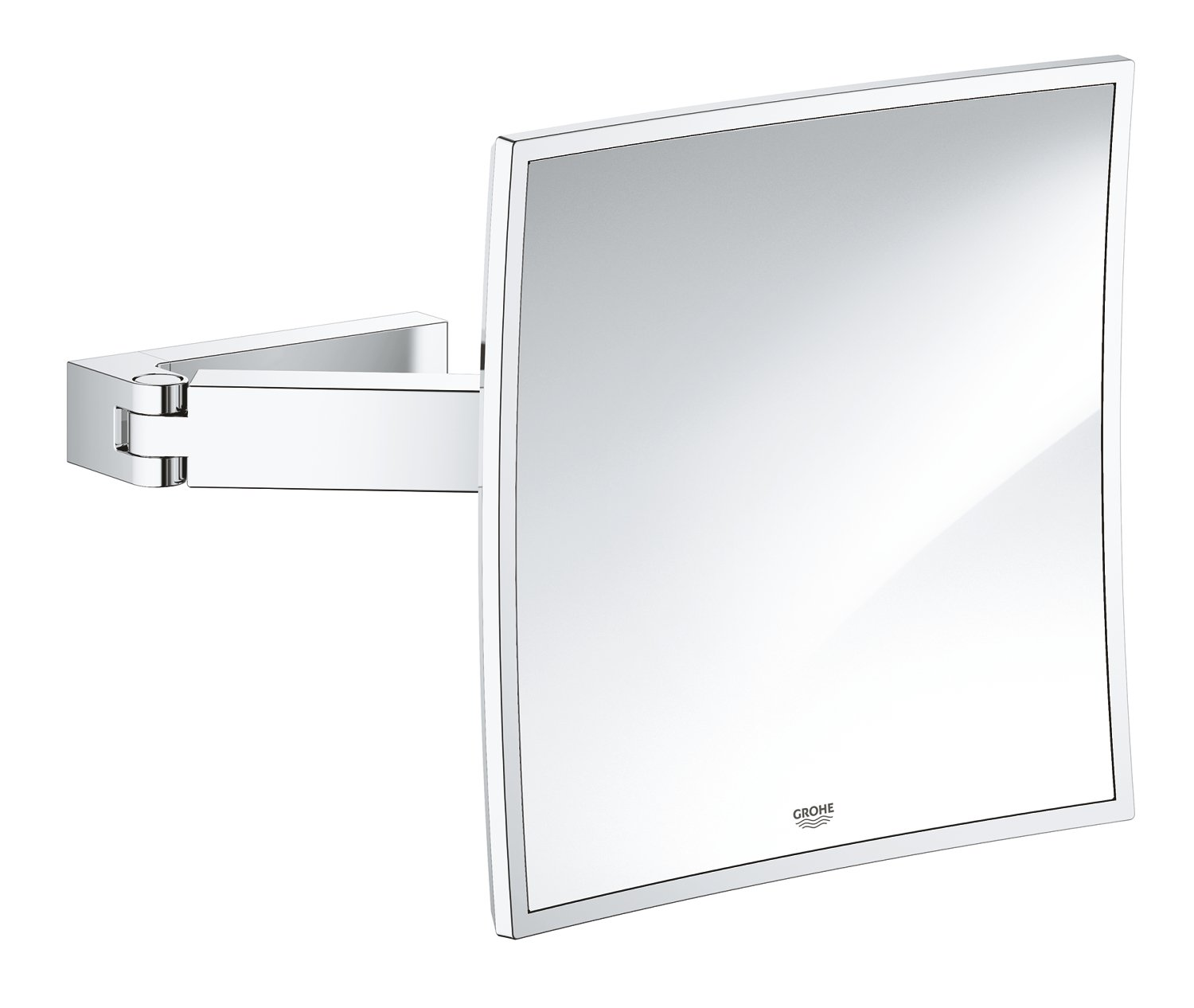GROHE 40808000 Selection Cube Cosmetic Mirror, Starlight Chrome by GROHE