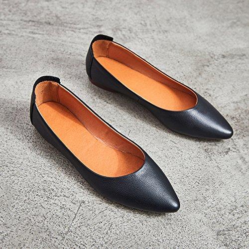 Black Chaussures Mode Nouvelle Paresseux Noires GUANG Black Travail Femmes XING Plates Chaussures De Une 36 37 Chaussures Chaussures Pédale tqRTC