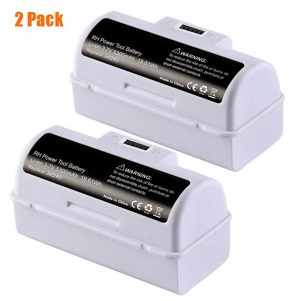 TOPCHANCES Upgrade High Capacity 3.6V 5300mAh Replacement Li-ion Battery Compatible with iRobot Braava Jet 240 Floor Mopping Robots (2 Pack)