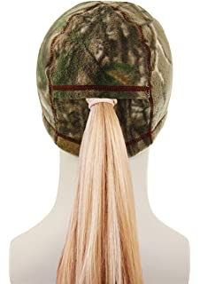 2285702f1478e Equipment De Sport USA Ladies Realtree Camo Unlined Fleece Skullie with  Ponytail Opening