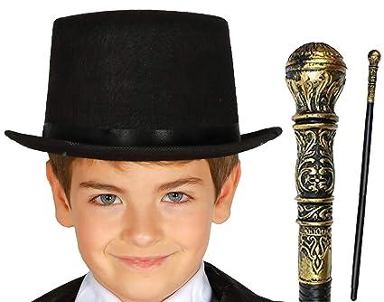 aab7f59df Labreeze Kids Victorian Gentleman Black Top Hat & Cane World Book ...
