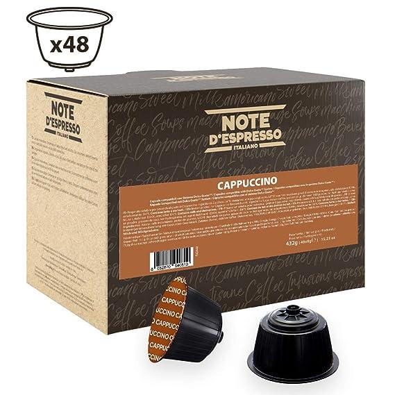 Note DEspresso - Cápsulas de capuchino instantáneo compatibles con cafeteras Dolce Gusto, 9 g (caja de 48 unidades)
