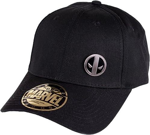 Deadpool logo gorra de béisbol de metal negro de algodón Marvel ...
