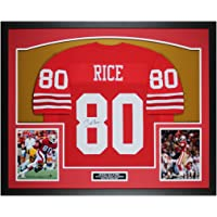$550 » Jerry Rice Autographed Red San Francisco Jersey - Beautifully Matted and Framed - Hand Signed By Rice and Certified Authentic by…