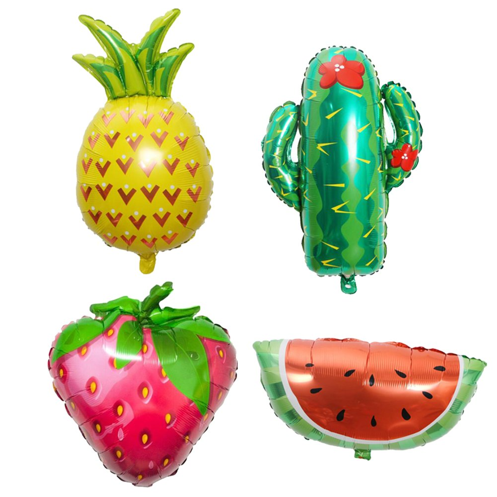 ED-Lumos Set of 4 Pack Giant Colourful Fruits Cactus Reusable Balloons for Party Decoration Children Kids Gift   B07CGBWNJS