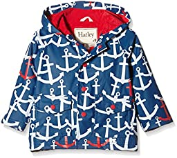 Hatley Baby Scattered Anchors Infant Raincoat, Navy, 18-24 Months