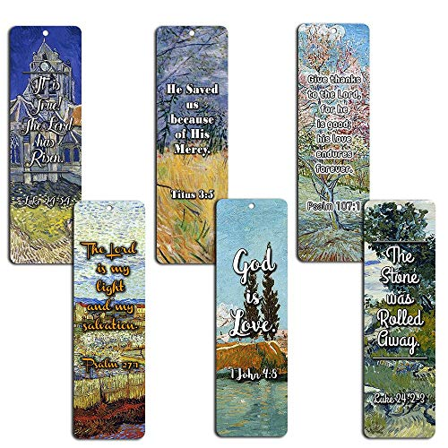 Bible Bookmarks Cards - God is Love (30 Pack) - Great Inspirational Gifts for Christian Church Event, Youth Group, Easter Day, Thanksgiving, Christmas, Everyday Occasion to Remind Us of God's Love