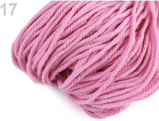 1pc Rosa Medio de Algodón Crochet de Hilo de 100g, Tejido de punto ...