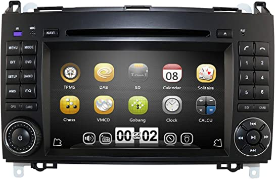 Mercedes Vito reproductor de CD unidad principal Pioneer car Aux Usb Bluetooth Manos Libres Kit