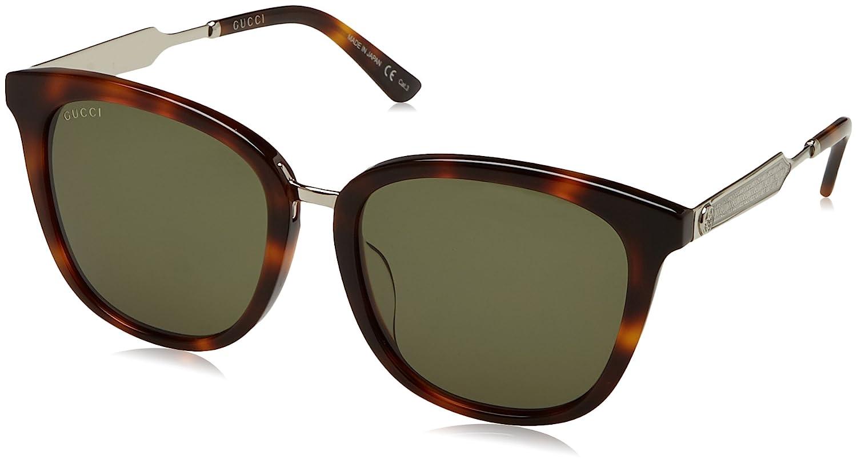 260485b2cee Amazon.com  Gucci Womens Women s Gg0073sk-30001041003-P4890 56Mm Sunglasses   Clothing