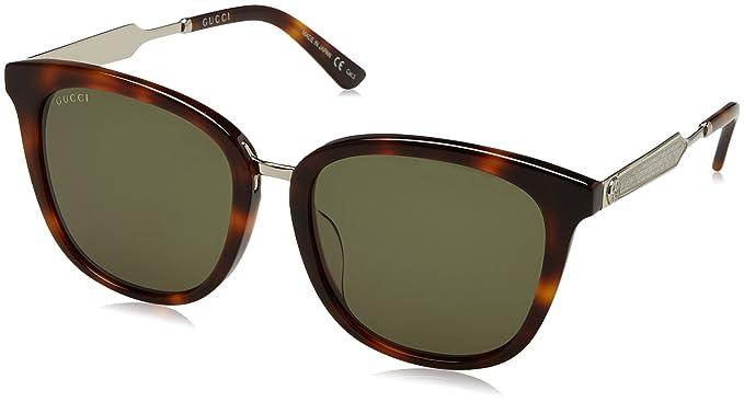 Gucci GG0073SK 003, Montures de Lunettes Mixte Adulte, Marron  (Avana Green), 56  Amazon.fr  Vêtements et accessoires d75b246ba488