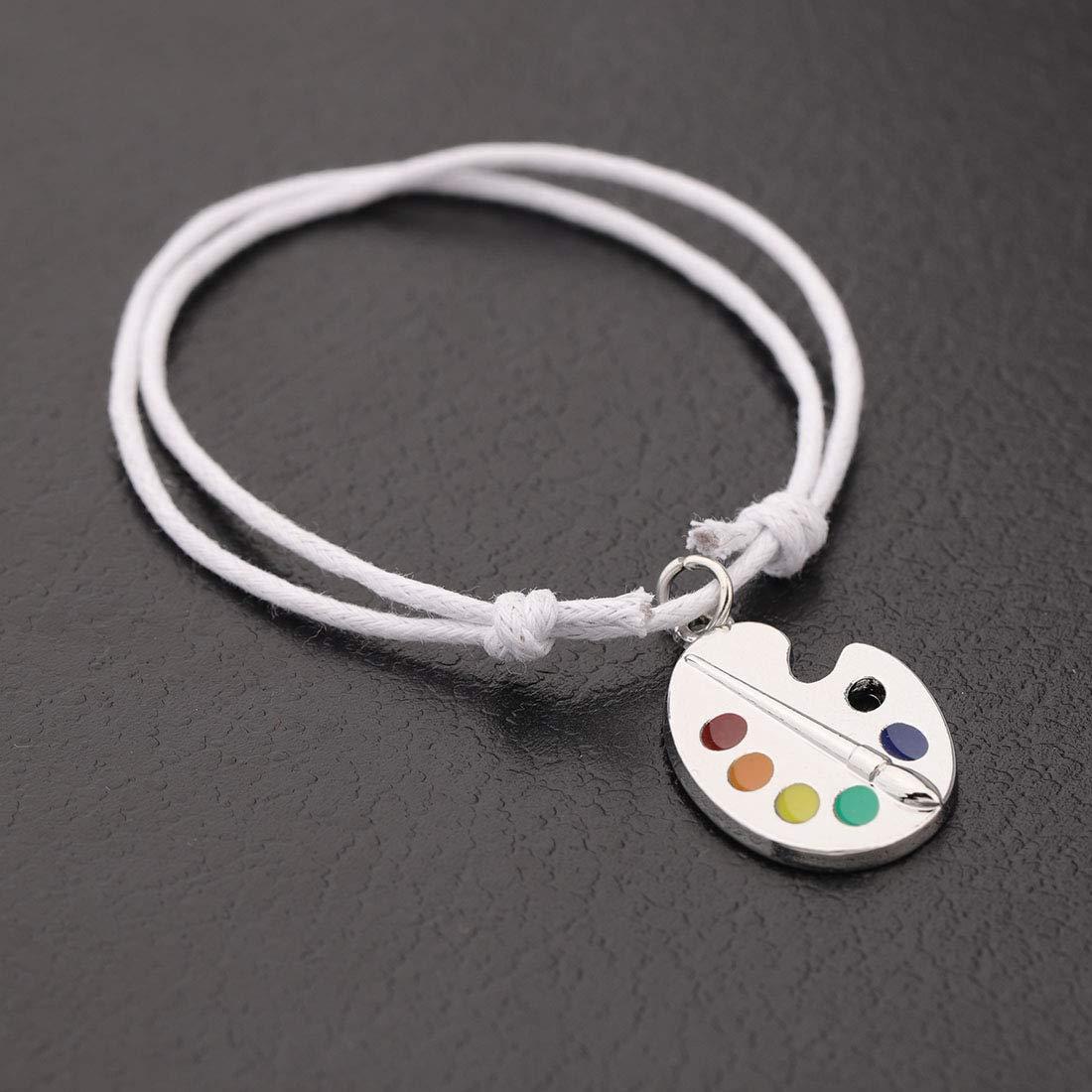 CHOROY Colorful Paint Palette Pendant Necklace//Bracelet Artist Painter Bracelet//Necklace Art Student Art Teacher Gift