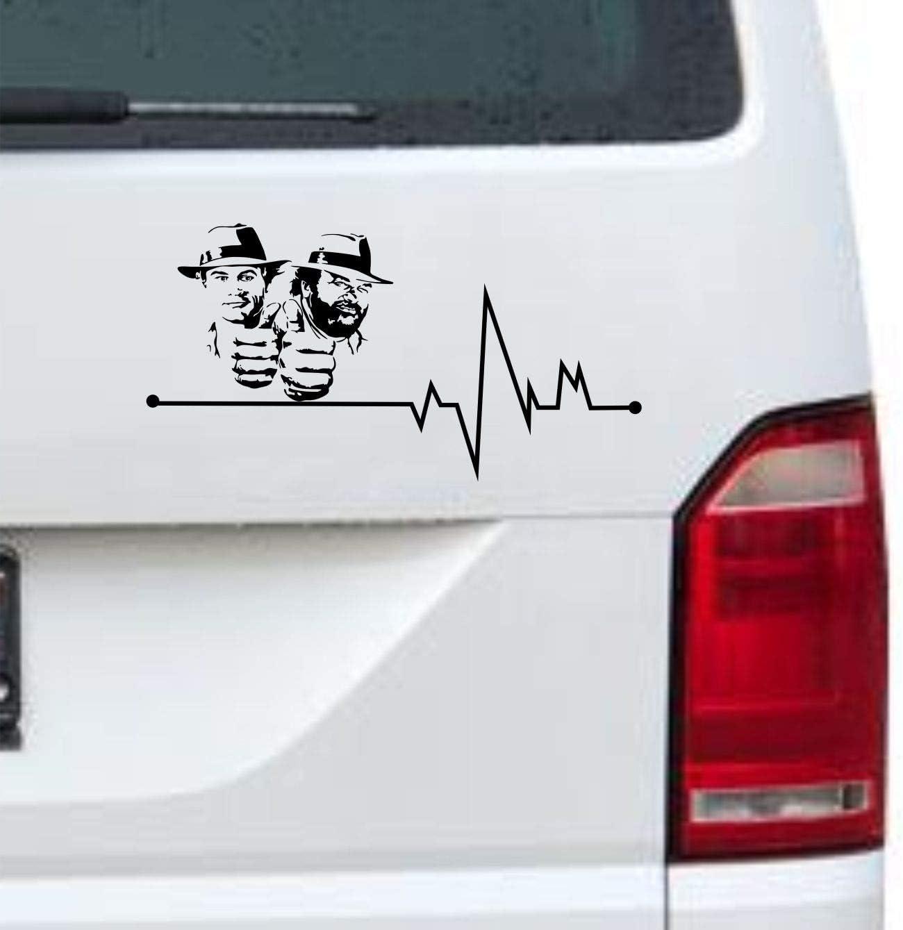 Myrockshirt Herzschlag Typ2 Terence Hill Bud Spencer 40cm Aufkleber Für Auto Lack Scheibe Wand Autoaufkleber Decal Sticker Profi Qualität Auto