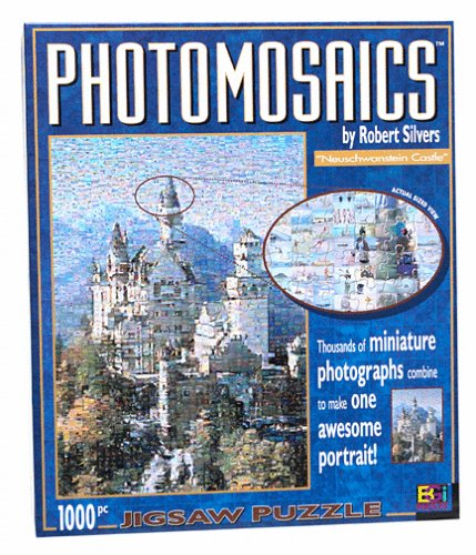 Photomosaic 1000-piece Jigsaw Puzzle: Neuschwanstein Castle