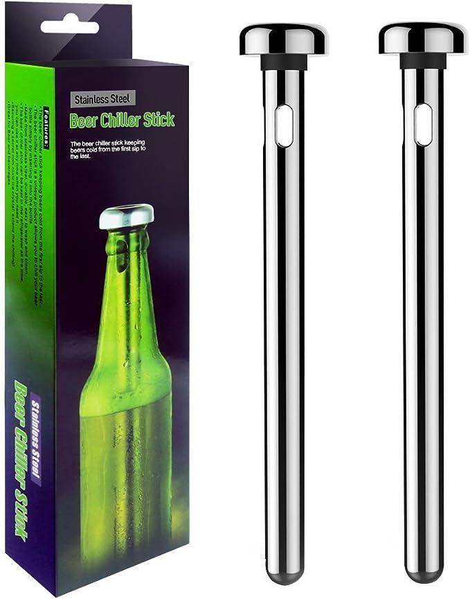 Mayshion 2 Pack Stainless Steel Beer Chiller Sticks Wine Cooler.: Amazon.es: Hogar