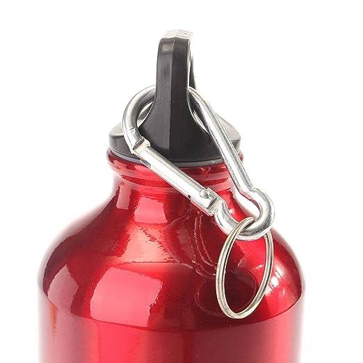 Aleación de aluminio OUTERDO ciclismo Camping hervidor de agua para bicicleta Deportes viajero senderismo botellas de agua 750 ml, rojo: Amazon.es: Deportes ...