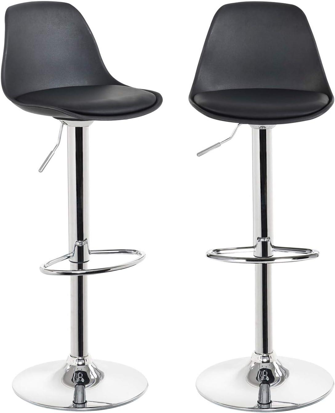 Kayelles Tabourets De Bar Cuisine Design Sig Lot De 2 Chaises De Bar Reglable Noir Amazon Fr Cuisine Maison
