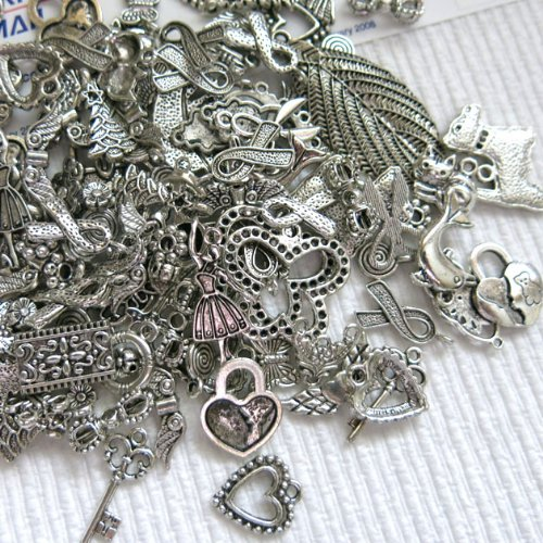 Beading Station 100 Plus Pieces BSI Everything Mix Spacer and Charms, Antique (Charms)