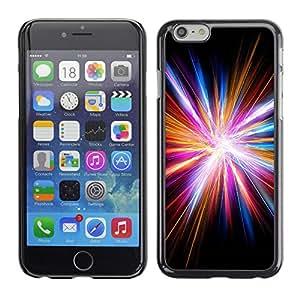 For Apple iPhone 6(4.7 inches) Case , Disco Light God Electric City Black - Diseño Patrón Teléfono Caso Cubierta Case Bumper Duro Protección Case Cover Funda