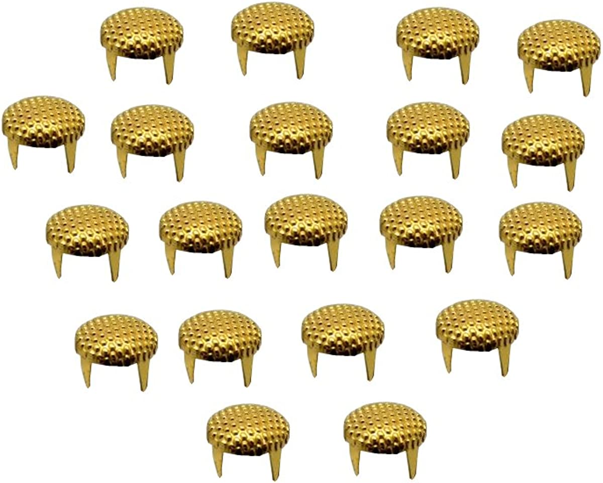 Crafts Belts EIMASS/® Dotted Round Dome /& Normal Circular Round Dome Studs Rivets with Prongs to Embellish Shoes DIY Bags Leather