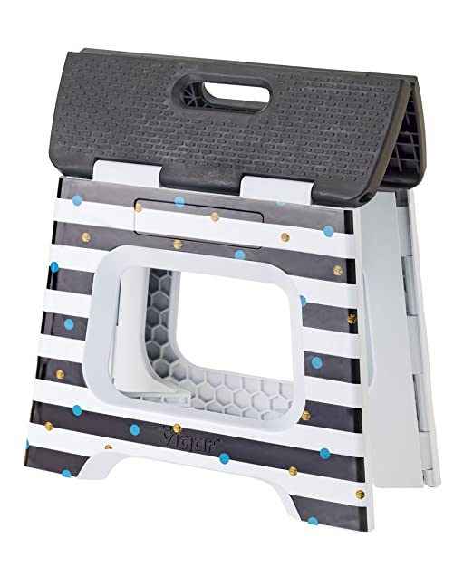 Vigar Ray In Body Taburete Plegable Compact de Color Negro de 27 cm de Altura Gris