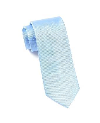 71b8fbcb571a The Tie Bar 100% Woven Silk Carolina Blue GrosGrain Solid Tie at Amazon  Men's Clothing store: Neckties