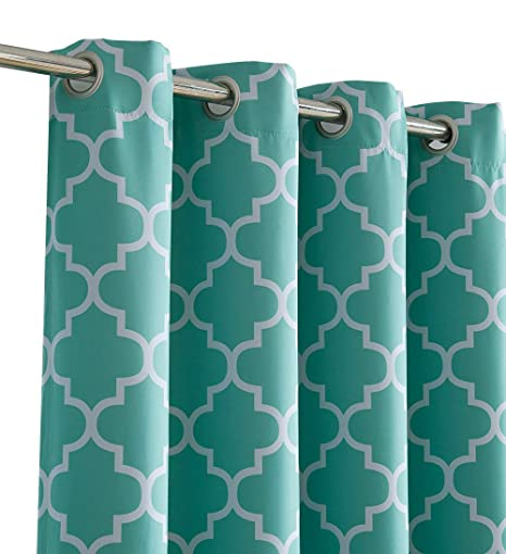 Amazon Com Hlc Me Lattice Print Thermal Insulated Blackout Room