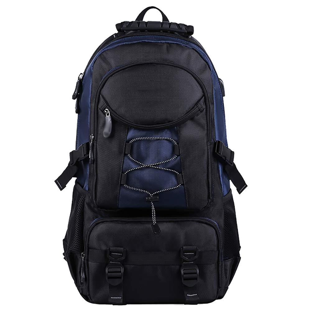 屋外の登山バッグ大容量のバックパック防水スポーツレジャーバッグオックスフォード旅行の旅行バッグ青61 * 17 * 35CM   B07KN4XLKG