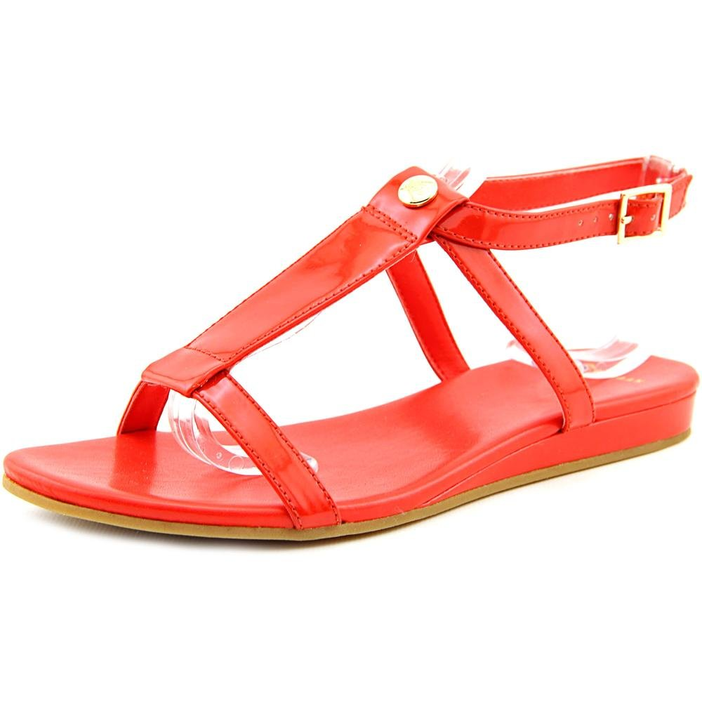 Cole Haan Womens Paz II Open Toe Casual T-Strap Sandals B011D293QK 5.5 B(M) US|Fiery Red Patent