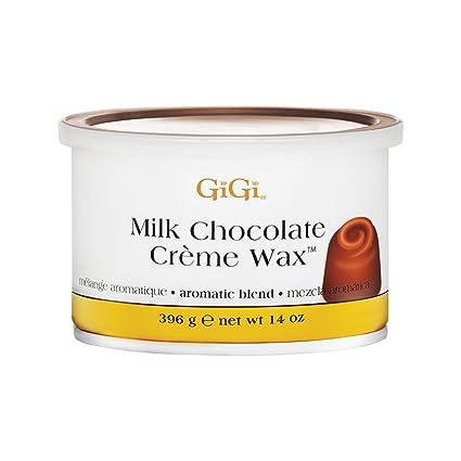 Gigi - Cera depilatoria de chocolate con leche con mezcla aromática para todo tipo de pieles